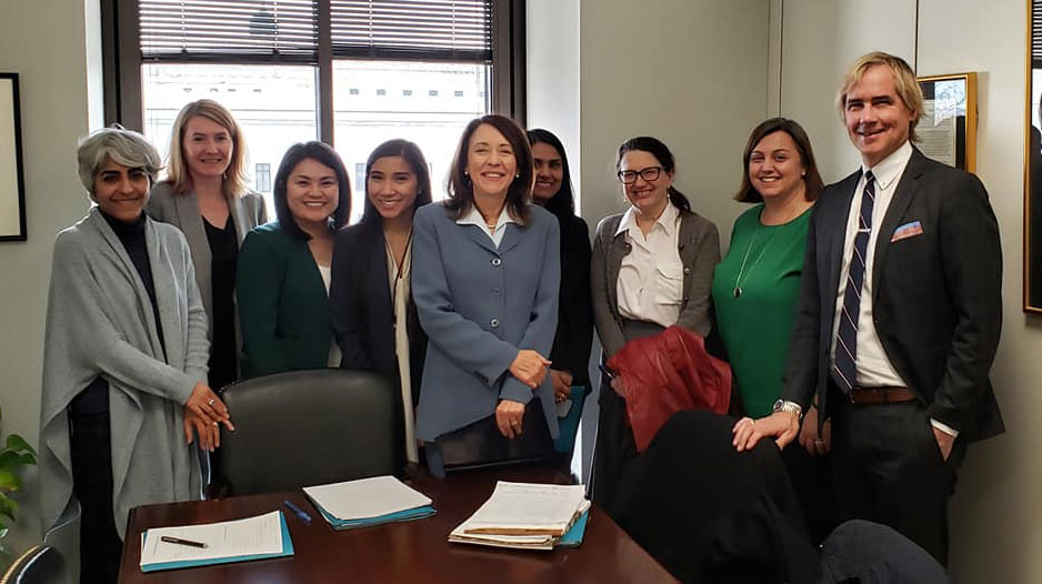 FOTH 2019 staff and member delegates with Maria Cantwell